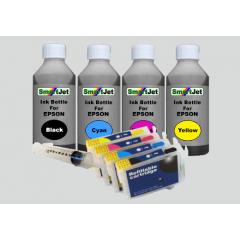 Epson T16 XL Επαναγεμιζόμενα Μελάνια Black,Cyan,Magenta,Yellow