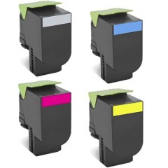 Lexmark CS310, CS410, CS510 (702) Black, Cyan, Magenta, Yellow Συμβατό Toner Set