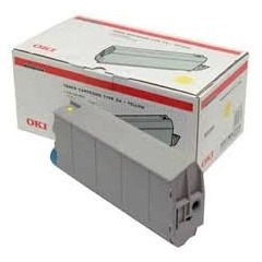 OKI Toner Cartridge Type C4 Yellow - (41963005) OKI C7100 / C7300 / C7350 / C7500